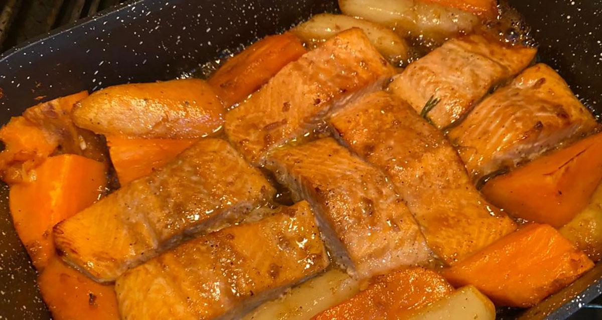 סלמון בתנור המתכון של קמליה