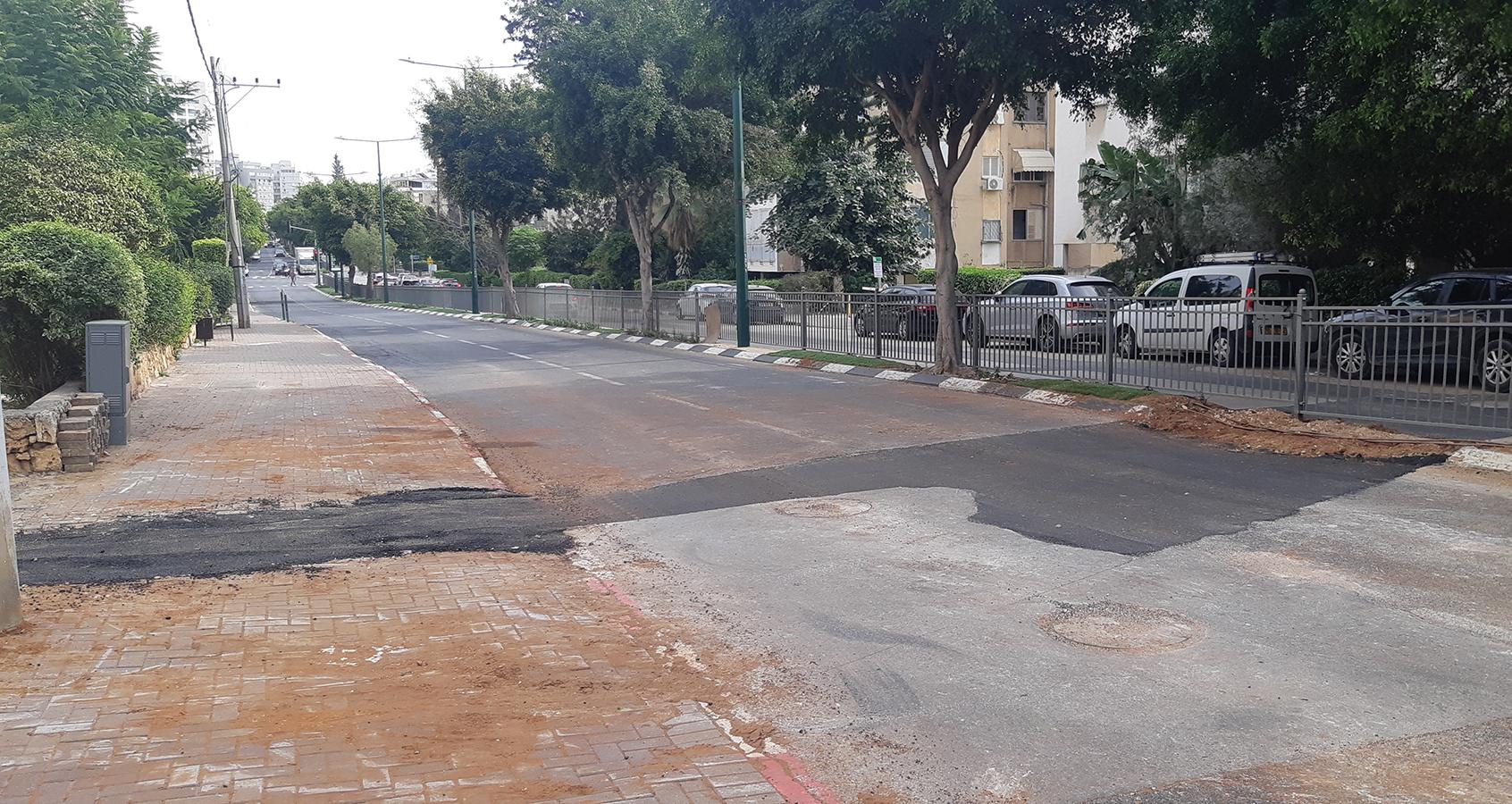 בנייה ברחוב הרב קוק