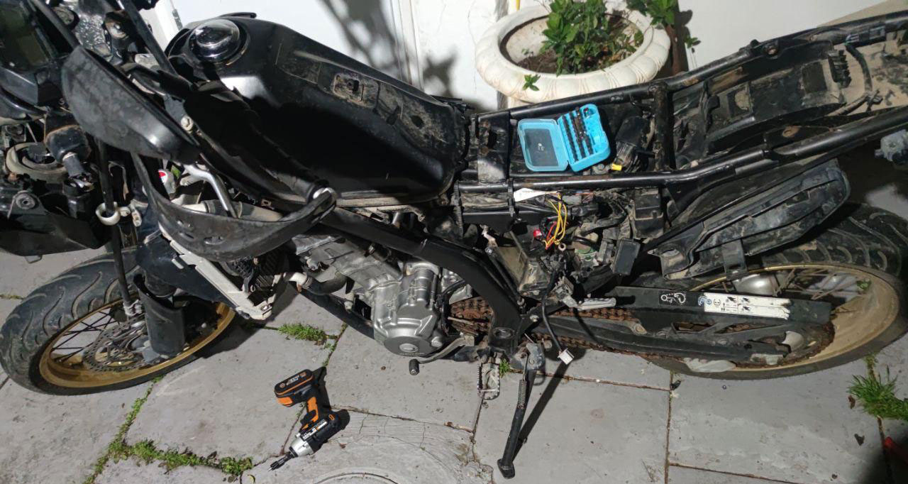 אופנוע נגנב בהרצליה