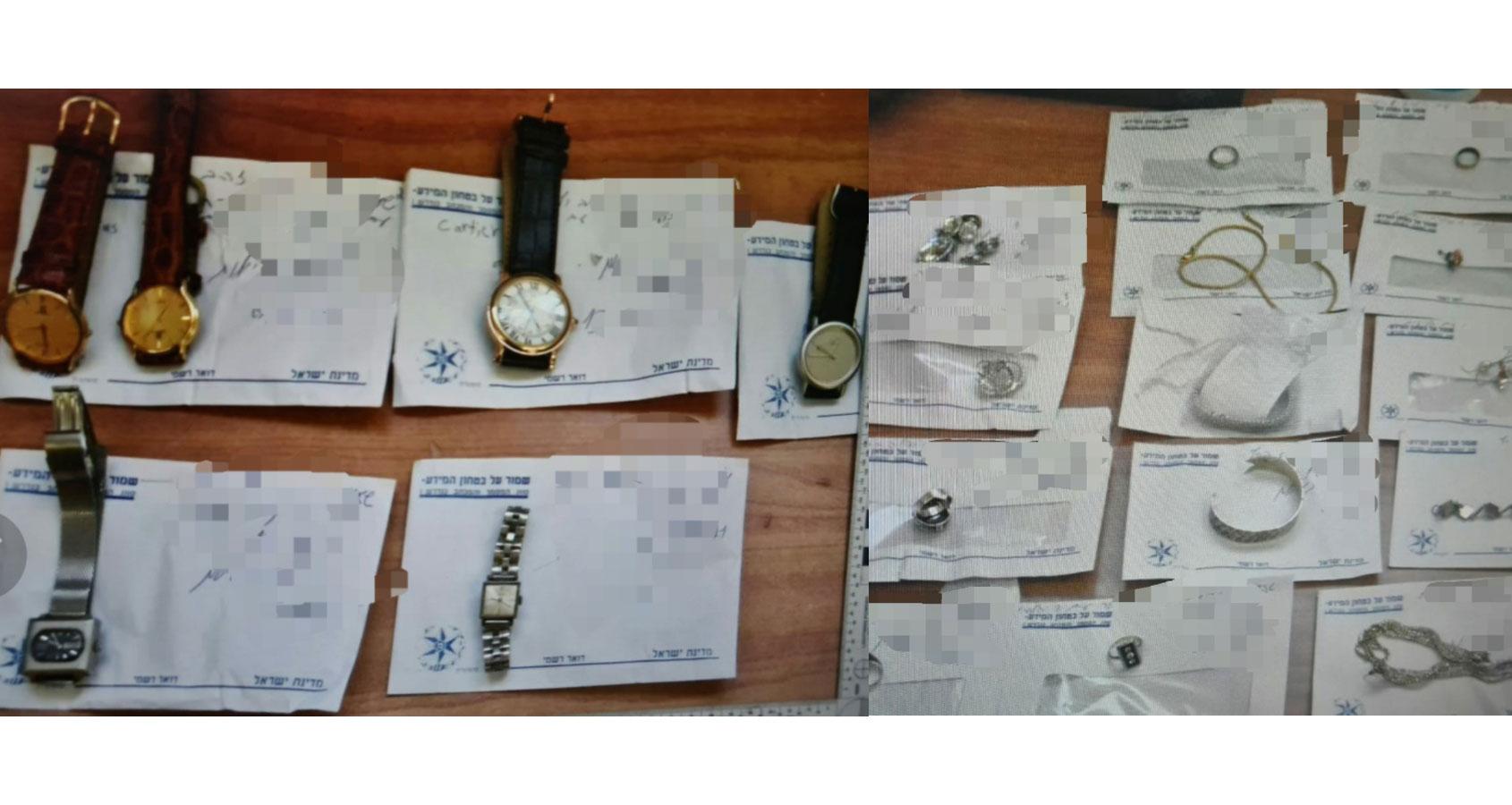 תכשיטים גנובים בהרצליה - נתפסו על ידי המשטרה