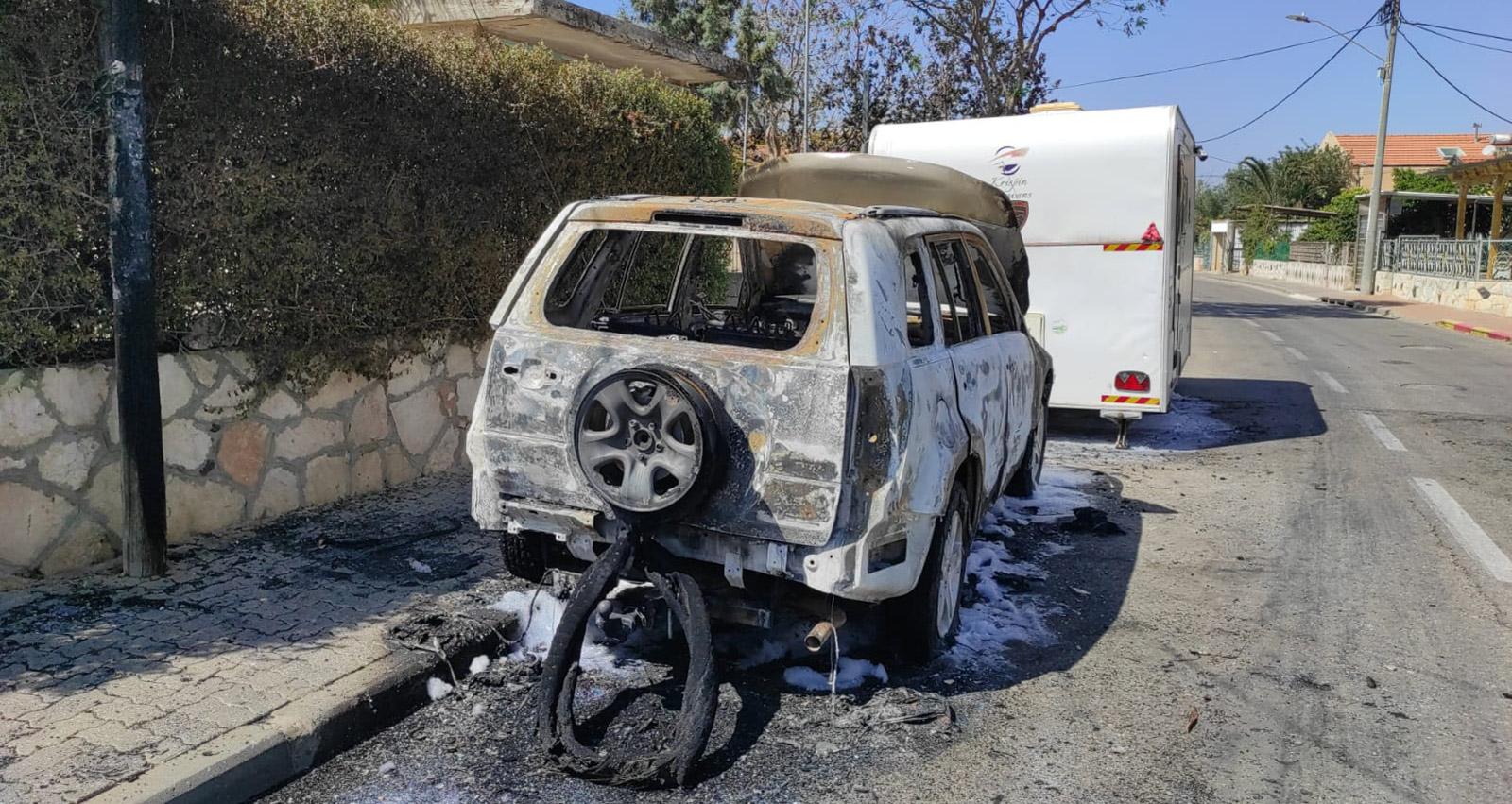 רכב שרוף בהרצליה