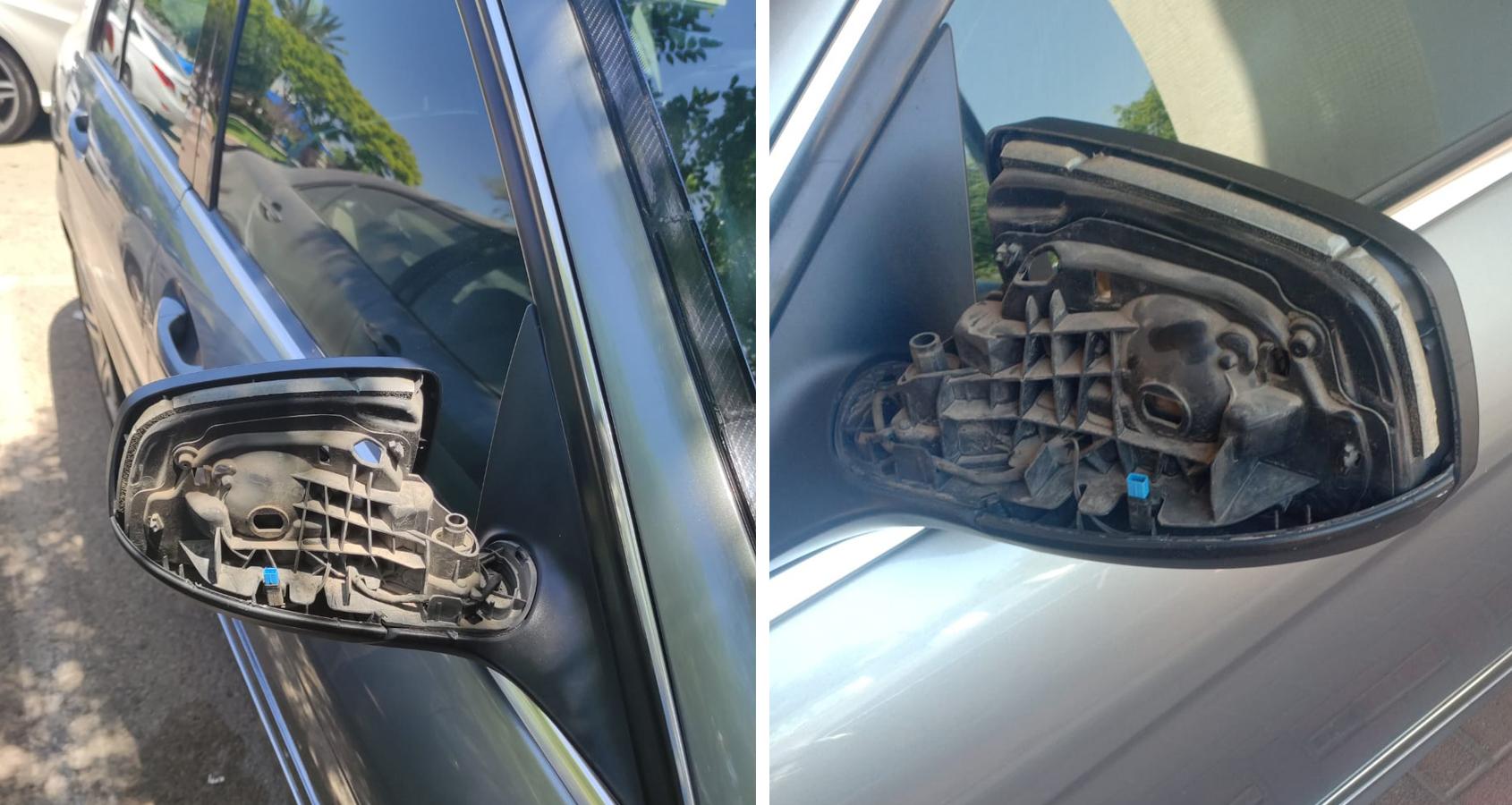 מראות שבורות ברכבים ברמת השרון