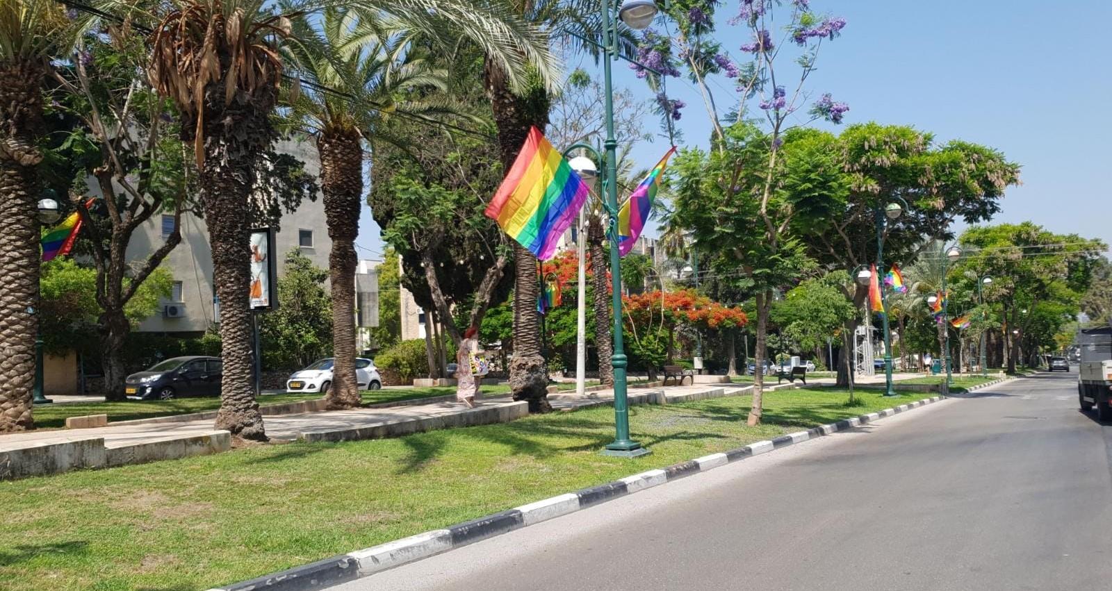 דגלי גאווה ברמת השרון בשנה שעברה