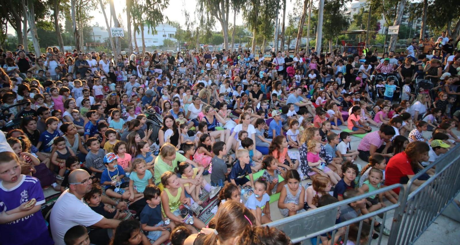 מופע בפארק הנצח. התושבים ימשיכו ליהנות. צילום: באדיבות העירייה