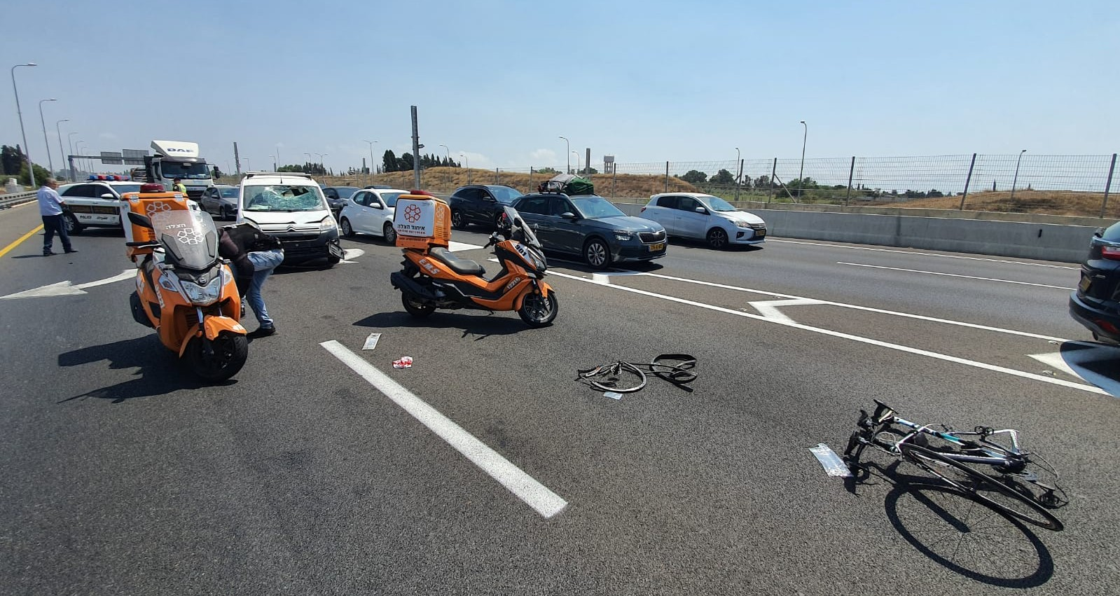 תאונת רוכב אופניים כביש 531